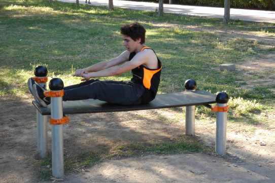 Banco abdominales individual Street Workout calistenia