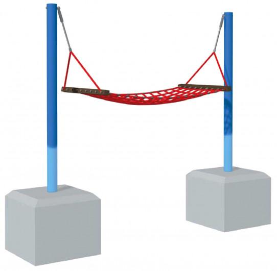 Hamaca con postes