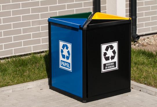 Papelera de reciclatge Denver