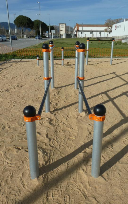 Paralelas a dos alturas Street Workout-calistenia