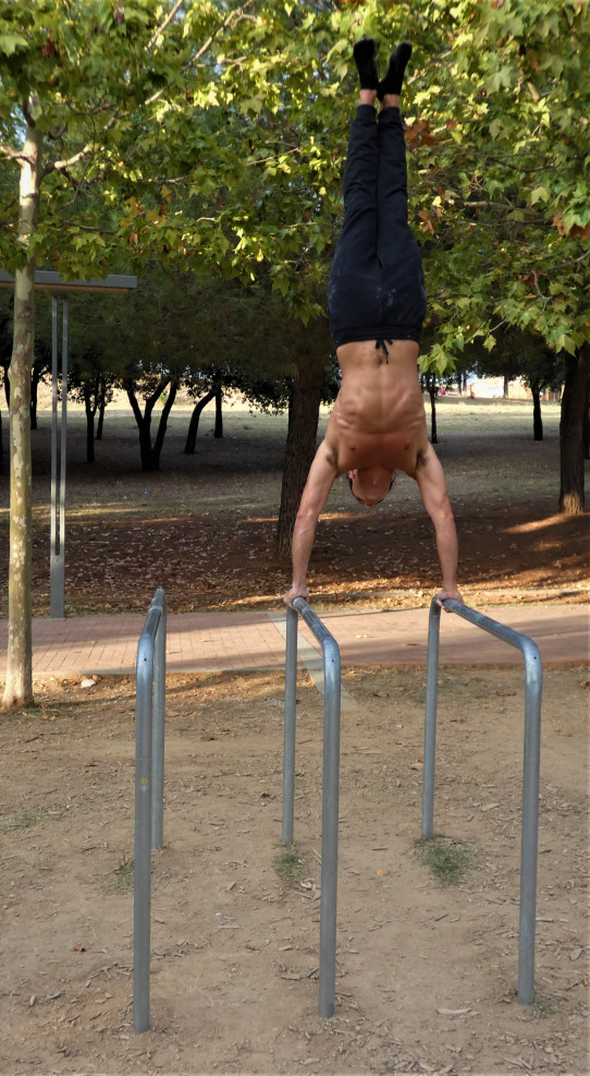 Paralelas triples Street Workout calistenia