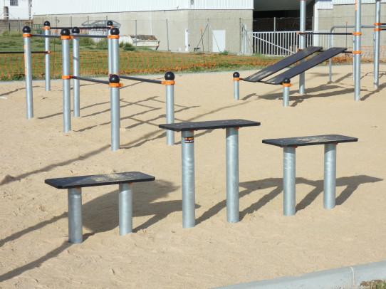 Plataforma saltos Street Workout Calistenia